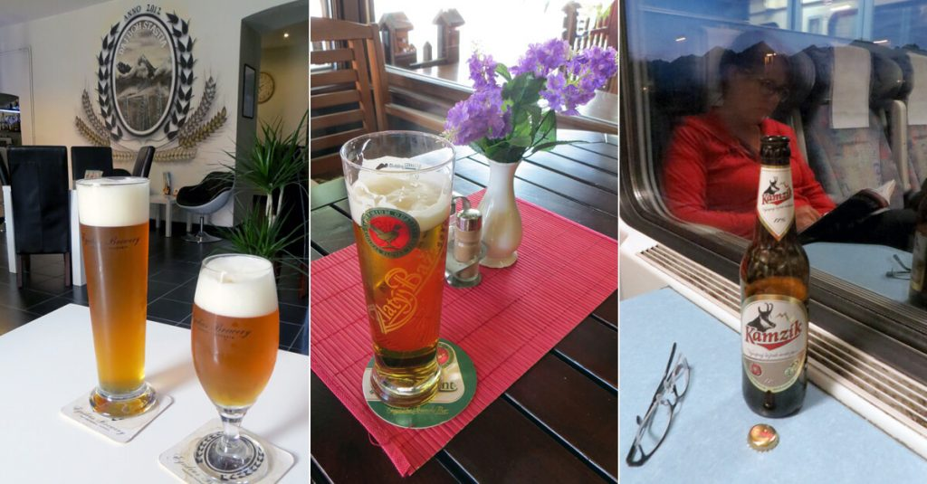 Slovak Beers - Egidius, Zlaty Bazant, Kamzik