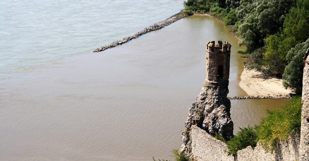 Devin Castle tower on Danube